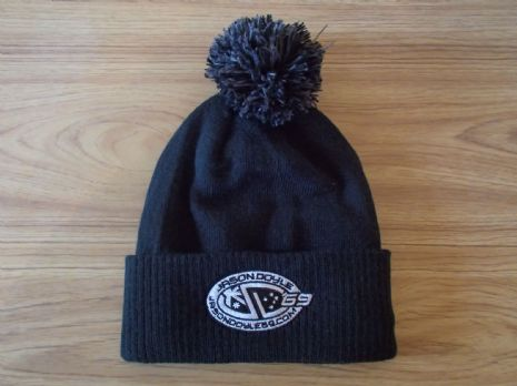 JD #69 Bobble Hat BLACK & GREY LOGO